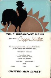 United Air Lines - Copper Skillet Breakfast Menu