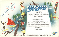 British Commonwealth Pacific Airlines Menu