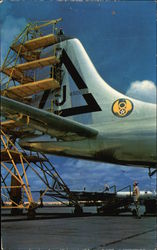 Convair B-36 bomber tail four stories high Postcard
