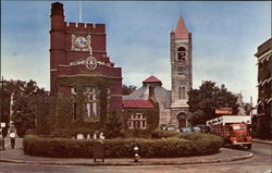 Public Library, 1st Congregational Church and Tavern