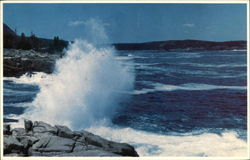 Pounding Surf along Ocean Drive - Acadia National Park