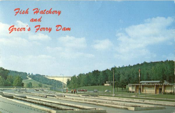 Fish Hatchery And Greer's Ferry Dam Ozarks Arkansas