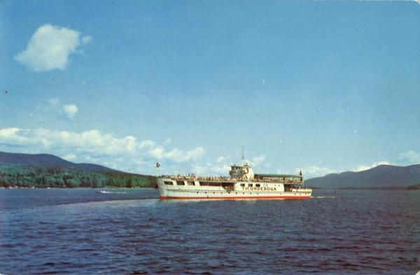 The Ticonderoga Lake George New York Boats, Ships
