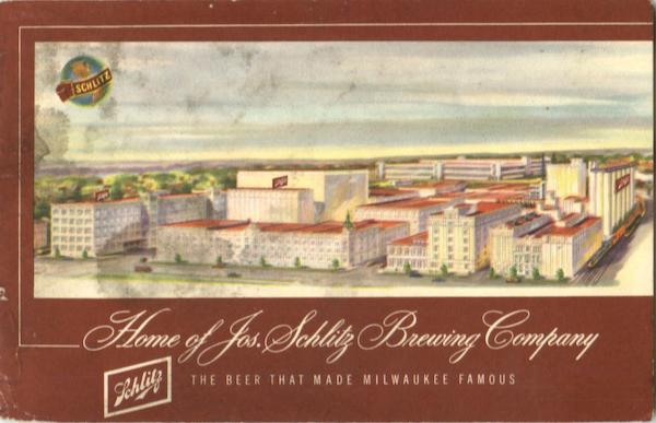 Home Of Jos. Schlitz Brewery Company Advertising Breweriana