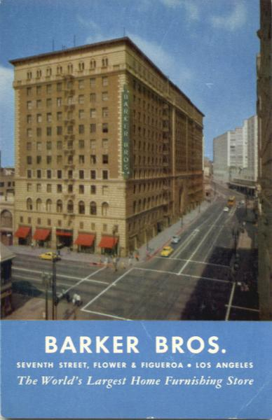 Barker Bros Home Furnishing Store Los Angeles California