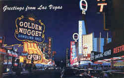 Greetings From Las Vegas, Fremont St. Postcard