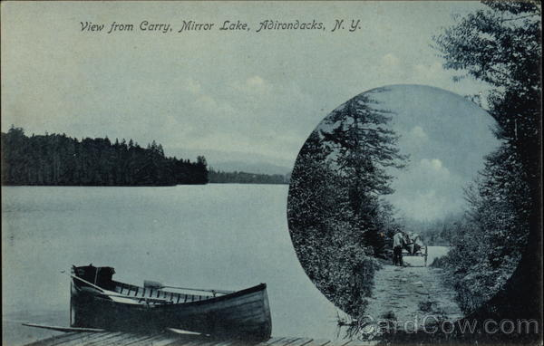 View from Carry, Mirror Lake, Adirondacks Lake Placid New York