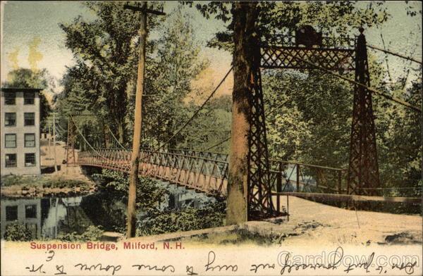Suspension Bridge Milford NH