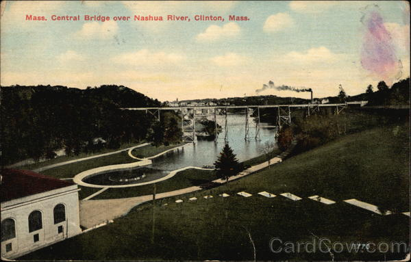Mass. Central Bridge over Nashua River Clinton Massachusetts