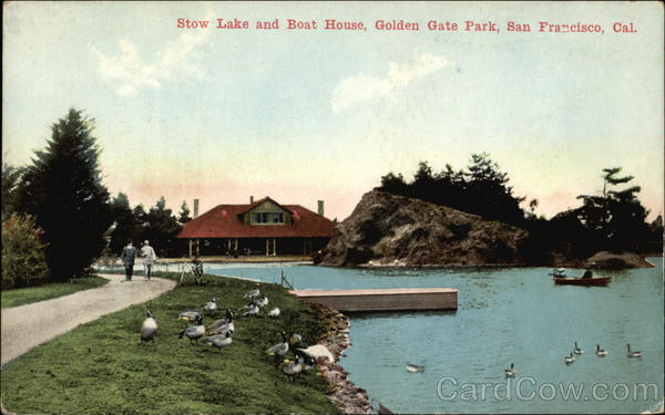 Stow Lake and Boat House, Golden Gate Park San Francisco California