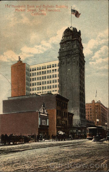 Humboldt Bank and Bulletin Building, Market Street San Francisco California