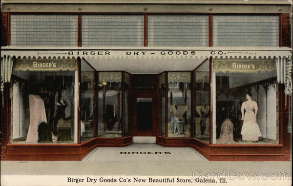 Birger Dry Goods Co's New Beautiful Store Galena Illinois