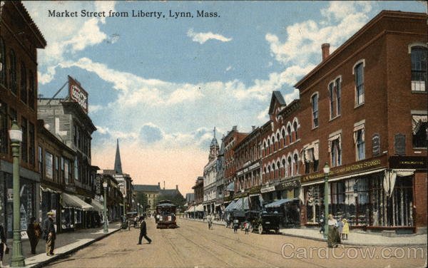 Market Street from Liberty Lynn Massachusetts