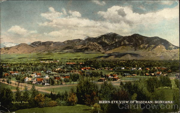 Bird 39 s eye view of bozeman montana for Cost to build a house in bozeman mt