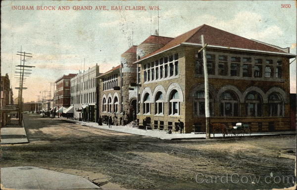 Ingram Block and Grand Avenue Eau Claire Wisconsin