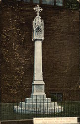 Christ Church - Memorial Monument to Rev. G. Brinly Morgan Postcard