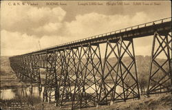 C & N Viaduct - Length 2685 feet. Height 185 feet. 5600 Tons of Steel