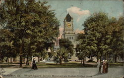 Wright Square, Gordon Monument and Chatham Co. Court House