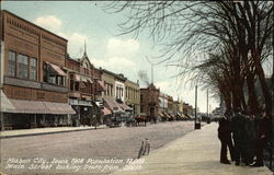 Main Street Looking South from Sixth, 1908, Population 12,000