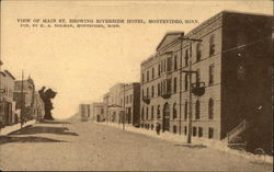 View of Main Street, showing Riverside Hotel