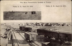 The Most Remarkable Growth of Towns, April 19, 1910 and 1911