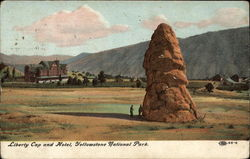 Liberty Cap and Hotel, Yellowstone National Park
