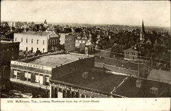 Looking Northwest from Top of Court House Postcard