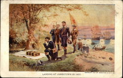 Landing at Jamestown in 1607