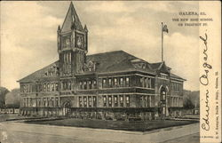 The New High School on Prospect St Postcard