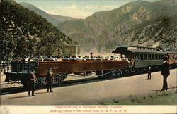 Observation Car Entering Canon of the Grand River D. &. R. G. R. R