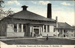 Ft. Sheridan Theatre and Post Exchange Postcard