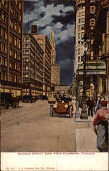 Madison Street, East from Dearborn Postcard