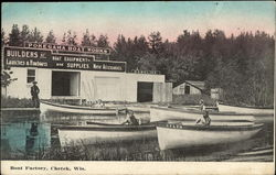 Boat Factory Postcard