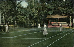 Government Park, Whittingdon Avenue - Playing Tennis