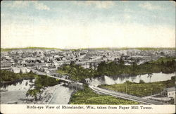 Birds-eye View of Rhinelander, Wis., taken from Paper Mill Tower