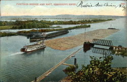 Pontoon Bridge and Raft, Mississippi River