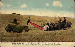 United States - The Header is used quite generally for Harvesting Wheat in the Western States