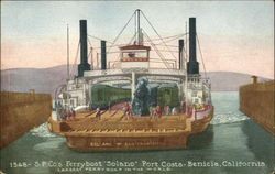 "SP Company's Ferryboat ""Solano"" at Port Costa"
