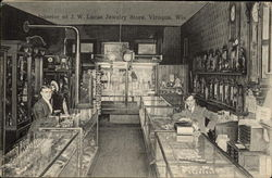 Interior of JW Lucas Jewelry Store