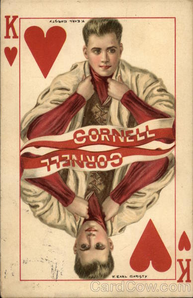 Cornell, King of Hearts Ithaca New York F. Earl Christy