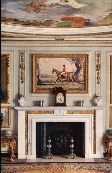 The Queen's Dolls' House. Dining Room Fireplace UK