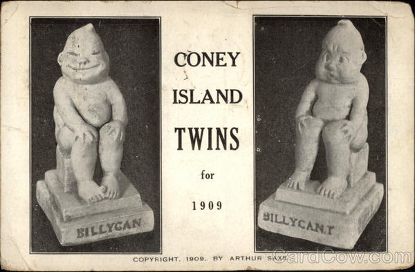 Coney Island Twins for 1909 Advertising Amusement Parks