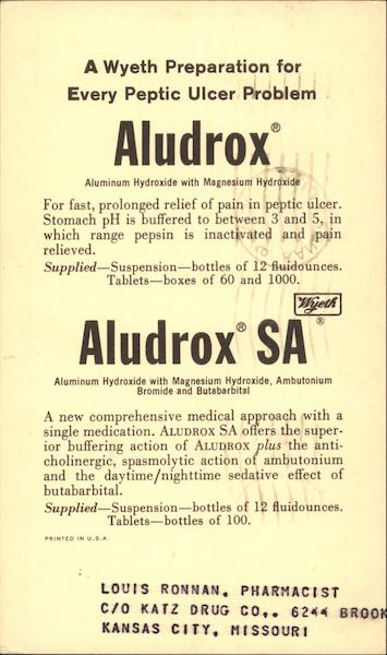 Aludrox for Peptic Ulcers Advertising