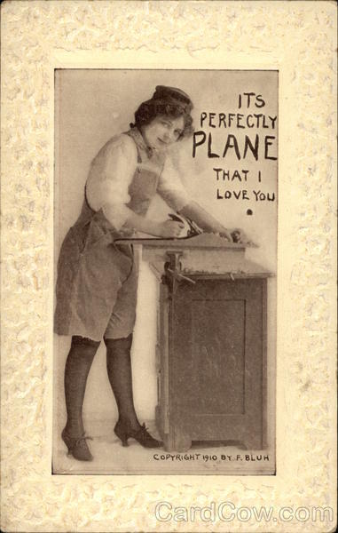 It's Perfectly Plane That I Love You Woman Carpenter