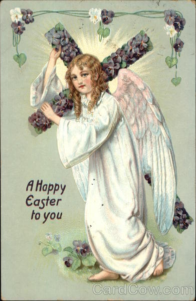 A Happy Easter to You With Angels