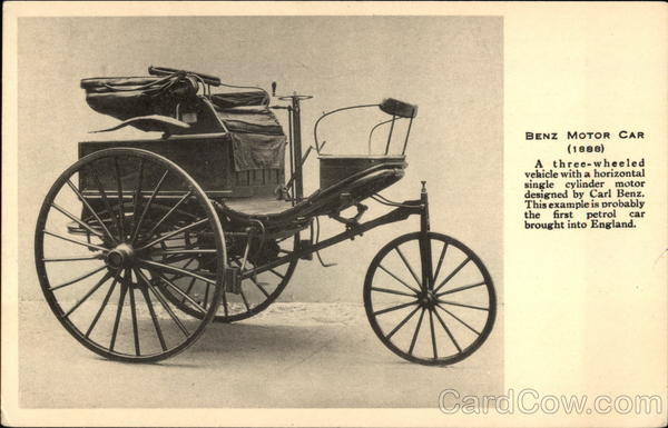 Benz Motor Car 1888 Cars