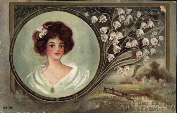 Portrait of Woman with Lily-of-the-Valley Women