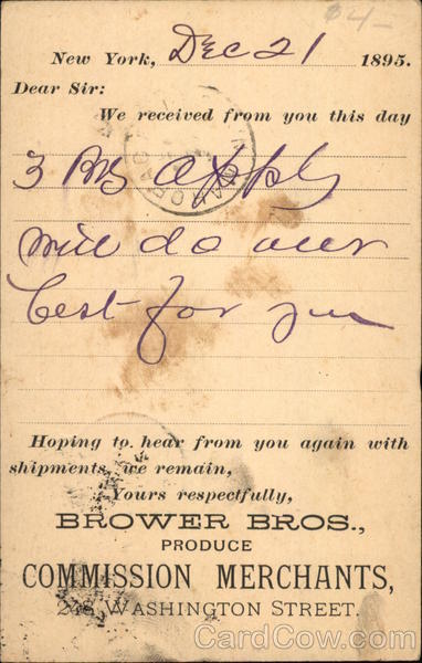 Brower Bros., Produce Commission Merchants, 248 Washington Street