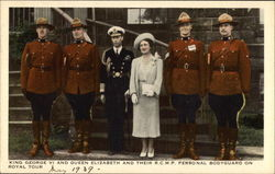 King George VI & Queen Elizabeth and Their RCMP Personal Bodyguard on Royal Tour