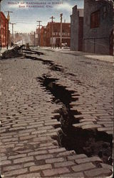 Result of Earthquake in Street, San Francisco, Cal